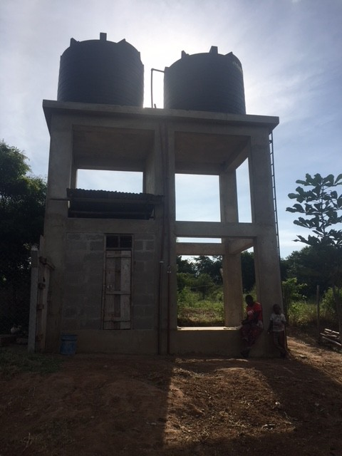 Newly-constructed water tanks at Mombo will provide fresh, clean water for all the local community. We were assisted in this project by The Little Way Association.