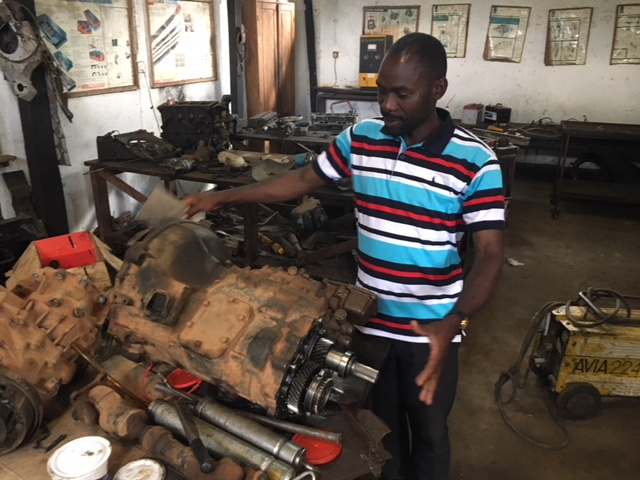 The workshop at St. Patrick's Technical School, which also trains mechanics