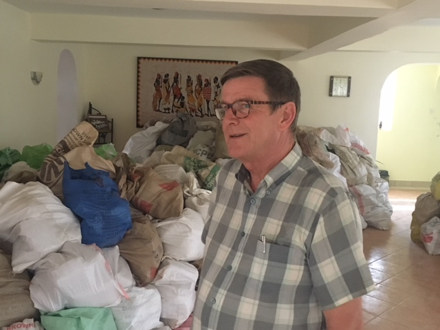 Pictured is Fr. John Fortune from Marino, Dublin. Until recently, there had been a drought in the region for two years and so Fr. John has been feeding 530 families fortnightly.