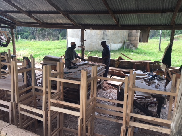 The carpentry shop at St. Patrick's Technical School